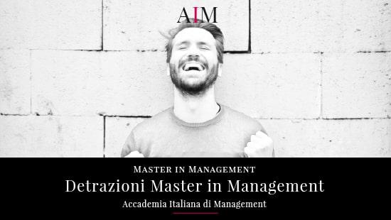 finanziamento master detrazioni master master a rate promozioni master corso alta formazione business school aim roma master di primo livello