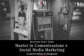 master in comunicazione e social media marketing part time master in management master part time business school aim roma