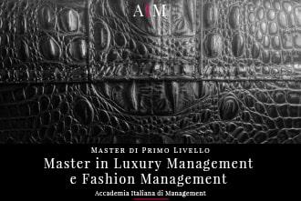 master in luxury management e fashion management master in management master di primo livello business school aim roma