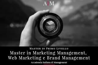 master in marketing management digital marketing e brand management master in management master di primo livello business school aim roma