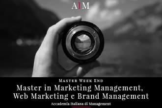 master in marketing management e digital marketing week end master in brand management master in management master week end business school aim roma