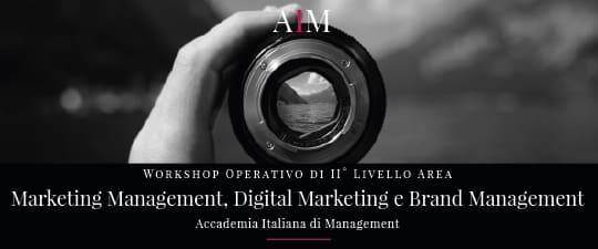 workshop formazione manageriale marketing management web marketing digital marketing brand management roma aim