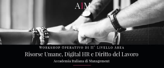 workshop formazione manageriale risorse umane digital hr diritto del lavoro roma aim business school